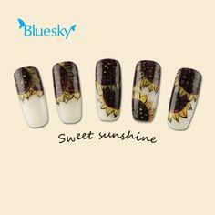bluesky nail art