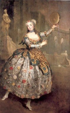 Barbara Campanini, Italian ca. 1745 ~ by Antoine Pesne.  One of the most important ballerinas in 18th century, she was favored by Frederick II, who established her in the new Court Opera in Berlin in 1744.