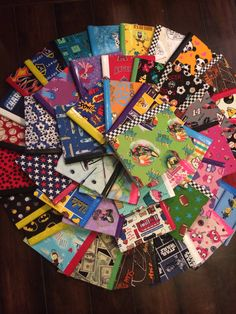 Fabric covered composition books for students