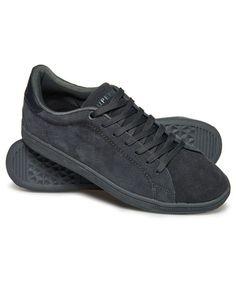 30e66b10b2 Mens - Sleek Tennis Low Premium Trainers in Steel Grey dark Grey