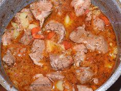 Retete tocana de porc cu legume la ceaun taraneasca reteta de casa Thai Red Curry, Cooking, Ethnic Recipes, Meals, Pork, Fine Dining, Kochen, Brewing