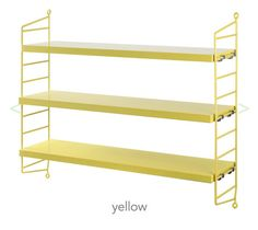 Yellow String Shelf
