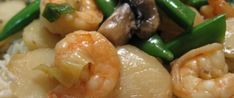 Shrimp With Snow Peas And Water Chestnuts Recipe - Genius Kitchen Seafood Dishes, Seafood Recipes, Cooking Recipes, Fish Recipes, Chestnut Recipes, Shrimp Recipes For Dinner, Water Chestnut, Asian Recipes, Oriental Recipes