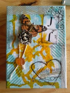 Mixed media canvas for my sister in law.