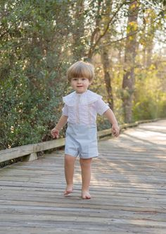 Boy's Button-on Suit with Puffing and Lace by CatherynCollins