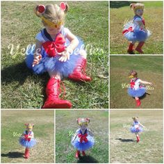 Presenting my latest... a Sailor Moon inspired tutu dress!! www.facebook.com/YelleysBellies  www.YelleysBellies.com