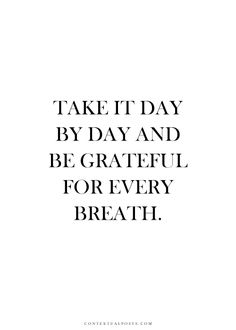 just be grateful.