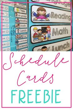 FREE set of schedule cards for your classroom.  They fit great in a pocket chart!