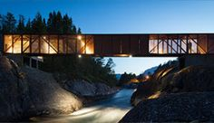 Høse bridge is beautifully lit up on dark autumn and winter nights, leading you to forest walks on the other side - Photo: ©Foto: Jarle Lunde / SuldalFoto.no (scheduled via http://www.tailwindapp.com?utm_source=pinterest&utm_medium=twpin&utm_content=post21983358&utm_campaign=scheduler_attribution)