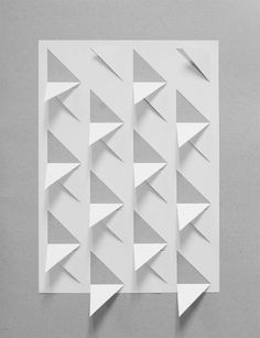 Creative Graphic, Porn, Fold, and Photograph image ideas & inspiration on Designspiration Origami And Kirigami, Origami Paper Art, Diy Paper, Paper Crafts, Origami Wall Art, Paper Folding Art, Book Folding, Parametrisches Design, Paper Structure
