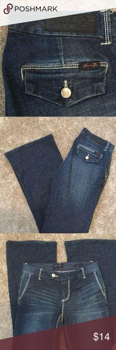 Seven7 wide leg denim trouser 8 Excellent used condition. Seven7 Jeans Flare & Wide Leg