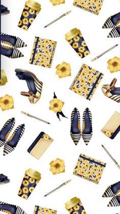 Quirky Wallpaper, Iphone Wallpaper, Cute Backgrounds, Cute Wallpapers, Sarra Art, Borders Free, Scrapbooking, Vector Flowers, Construction Process