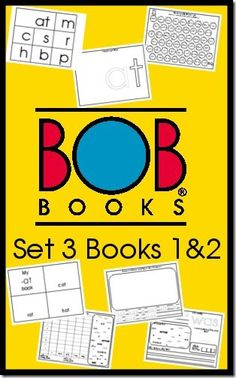 BOB Books Printables Set 3 Books 1 and 2 @Lucie Cheyer BOOKS
