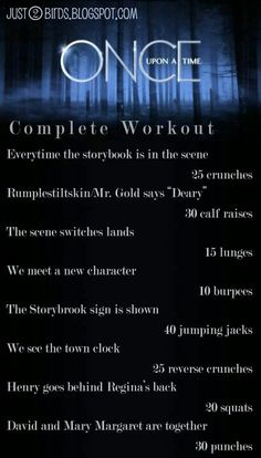 OUAT workout I can totally do this!! Bring on S4!