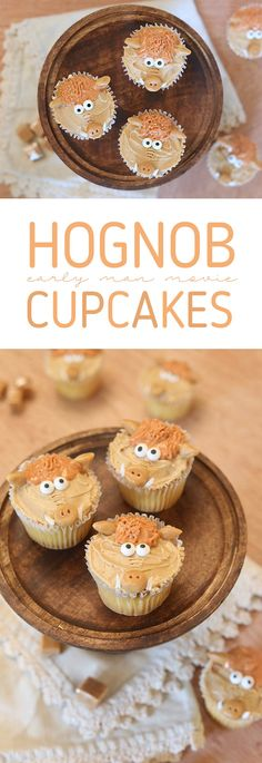 Make adorable Hognob cupcakes to celebrate the Early Man movie. Hog cupcakes for birthday parties and more. Homemade Desserts, Köstliche Desserts, Best Dessert Recipes, Cupcake Recipes, Delicious Desserts, Cupcake Cakes, Desert Recipes, Pie Recipes, Dessert Bread