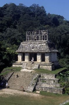 #Precolumbian  --  Ruins of 'Temple Of The Sun' In The Ancient Mayan City-State Of Palenque  --  Southern Mexico