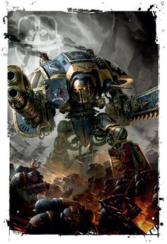 art-of-40k:  Codex: Imperial Knights by Raymond Swanland.