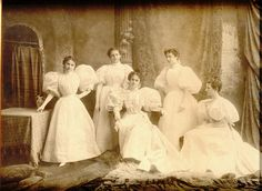 Group of unknown women, Portland, Maine, c. 1890s.