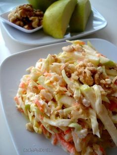 Cocina – Recetas y Consejos Salad Recipes, Diet Recipes, Cooking Recipes, Healthy Recipes, Food Porn, Coleslaw, Appetizer Salads, Savoury Dishes, Original Recipe