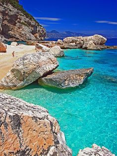 Cala Mariolu, Golfo di Orosei, Sardinia, Italy - beautiful beaches with crystal clear water. Places Around The World, Oh The Places You'll Go, Places To Travel, Travel Destinations, Places To Visit, Dream Vacations, Vacation Spots, Romantic Vacations, Italy Travel