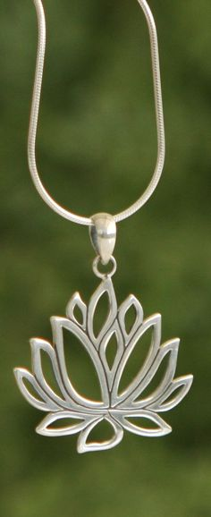 Sterling Silver Lotus Pendant                                                                                                                                                                                 More