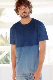 Indigo Dip Dye T-Shirt