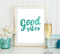 Good vibes quote digital print sea backround by S4StarSbySiSSy