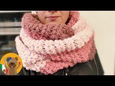 Tejer un chal XXL Punto en V + punto burbuja / Super abrigado para el invierno / Rico Design - YouTube
