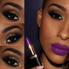 Tutorial – make poderosa com batom roxo