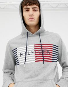 Browse online for the newest Tommy Hilfiger logo print hoodie styles. Shop easier with ASOS' multiple payments and return options (Ts&Cs apply). Cute Fashion, Mens Fashion, Funny Hoodies, Tommy Hilfiger Shirts, Men Shirt, Sweat Shirt, Winter Wear, Winter Collection, Street Wear