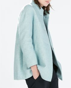 Image 4 of WOOL COAT WITH FUNNEL COLLAR from Zara