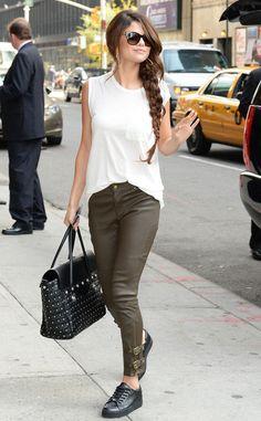 Selena Gomez Brown Boots
