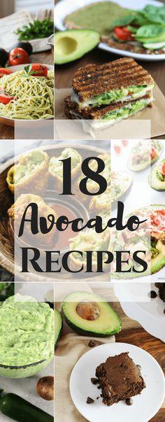 18 Avocado Recipes Guacamole, Vegetarian Recipes, Healthy Recipes, Delicious Recipes, Amazing Recipes, Vegetable Recipes, Healthy Foods, Avocado Toast, My Favorite Food
