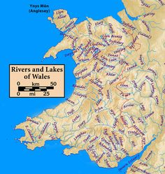 "This is a list of lakes in Wales. Most lakes in Wales start with the word ""Llyn"", which is Welsh for ""Lake"". All lakes listed here are named on the relevant Ordnance Survey map at scale Wales Uk, North Wales, Map Of Wales, Map Of Britain, Great Britain, History Of Wales, Local History, Learn Welsh, Europe"