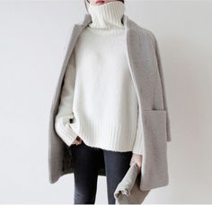 coat winter coat winter outfits beige tumblr beige coat grey grey coat tumblr outfit pale bright warm sweater