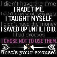 Say goodbye to the excuses! You can do this! www.youniqueproducts.com/missrachel