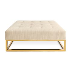 Traditional English Meets Modern Minimalism In Our Caine Collection. The  Polished Brass Base, Mitered Seams And Tufted Upholstery Give Our Caine  Ottoman A ...