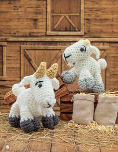 Crochet a Farm: 19 Cute-as-Can-Be Barnyard Creations Billy Goat - Goat - Kid Amigurumi Pattern Easy Crochet Patterns, Crochet Patterns Amigurumi, Amigurumi Doll, Crochet Gifts, Cute Crochet, Crochet Yarn, Crochet Horse, Knitted Animals, Crochet Basics