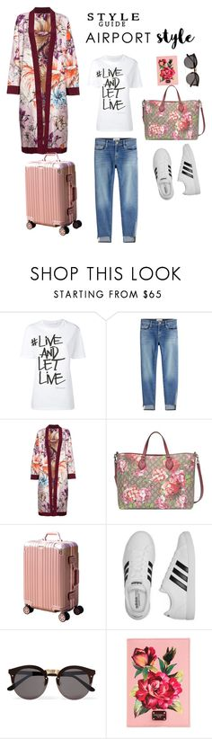 """""""#Airport Style"""" by sleekstylish ❤ liked on Polyvore featuring Neil Barrett, Frame, FAUSTO PUGLISI, Gucci, adidas, Illesteva and Dolce&Gabbana"""