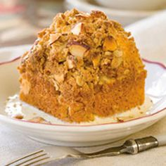 From Victoria Magazine Apple Crumb Cakes with Calvados Crème Anglaise