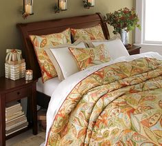 Similar to our sleigh bed.  Like the colors of the bedspread.