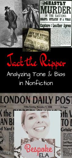 Jack the Ripper was one of the most infamous serial killers of all time. And he was never caught. This activity for high school English Language Arts is a surefire way to engage your students while assessing nonfiction skills such as tone and bias in the media. Common Core Aligned.
