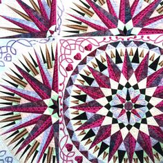 Star quilt - From Tokyo International Quilt Show 2014 - My Craft Land Diary