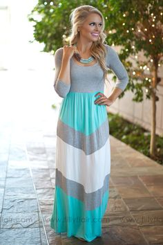 Mention My Name Colorblock Maxi Dress in Mint
