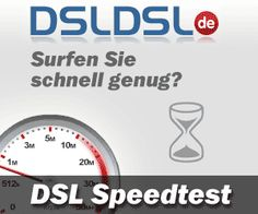 Der DSL-Speedtest findet Deinen Ping und Updoad / Download Geschwindigkeit heraus,