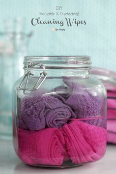DIY Cleaning Wipes (Reusable & Disinfecting). Save money and clean naturally! Plus, you can use these as homemade swiffer pads. Genius! | Live Simply