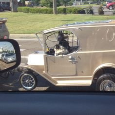 This is a pug mobile that is actually a trailer on the back of a motorcycle...the pugs were riding in style so I had to snap a pic