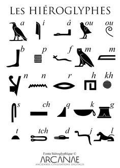 Egyptian Alphabet, Egyptian Symbols, Ancient Symbols, Alphabet Symbols, Ancient Alphabets, Ancient Scripts, Ancient Egypt For Kids, Eagle Drawing, Egypt