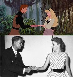 Bill Shirley and Mary Costa--The voices of Prince Phillip and Princess Aurora