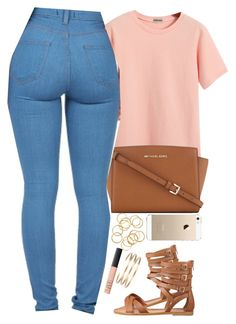 """""""6 04 15"""" by daisym0nste ❤ liked on Polyvore featuring Chicnova Fashion, MICHAEL Michael Kors, Nine West, NARS Cosmetics, Maria Black, women's clothing, women's fashion, women, female and woman"""